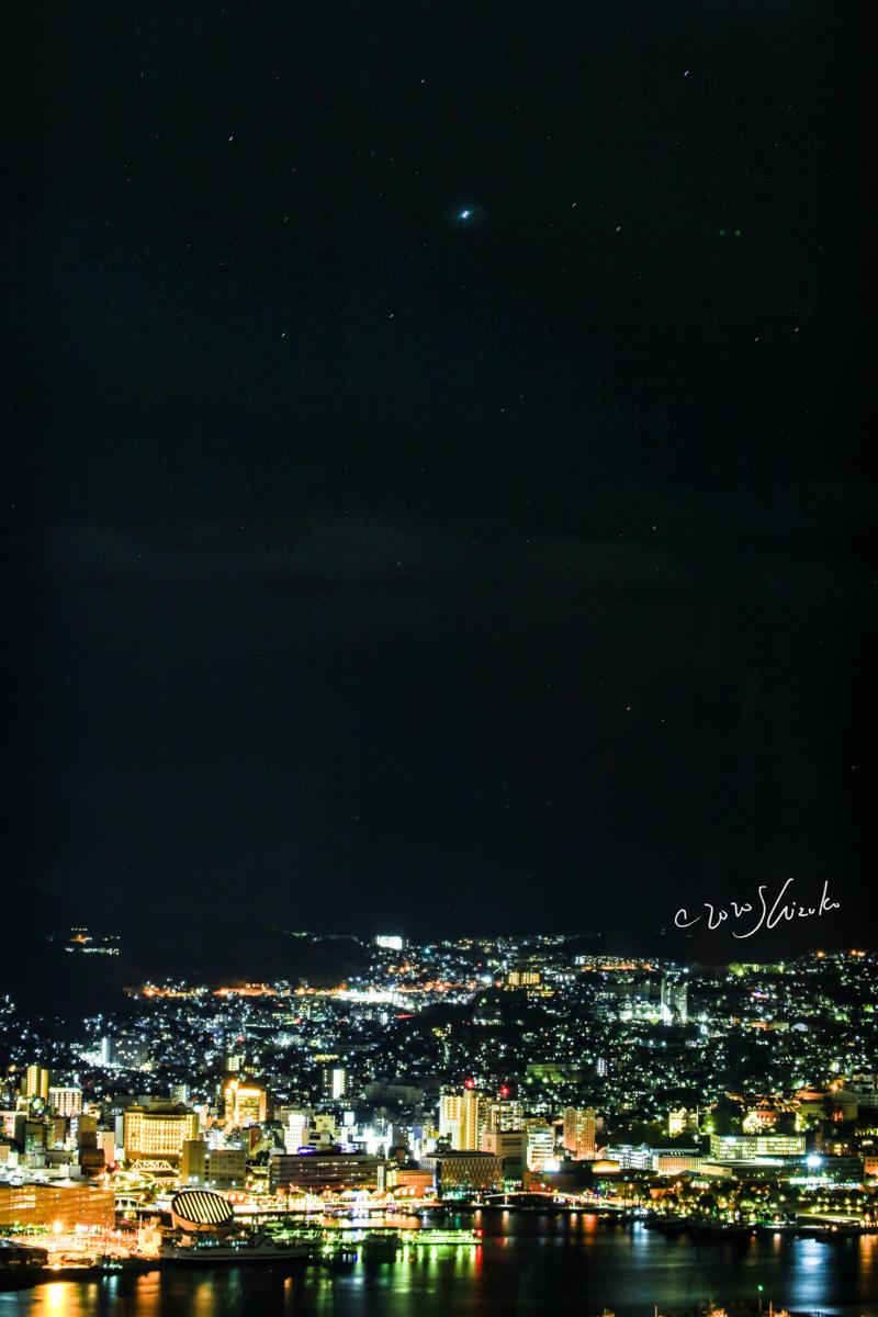 シリウスと長崎の夜景