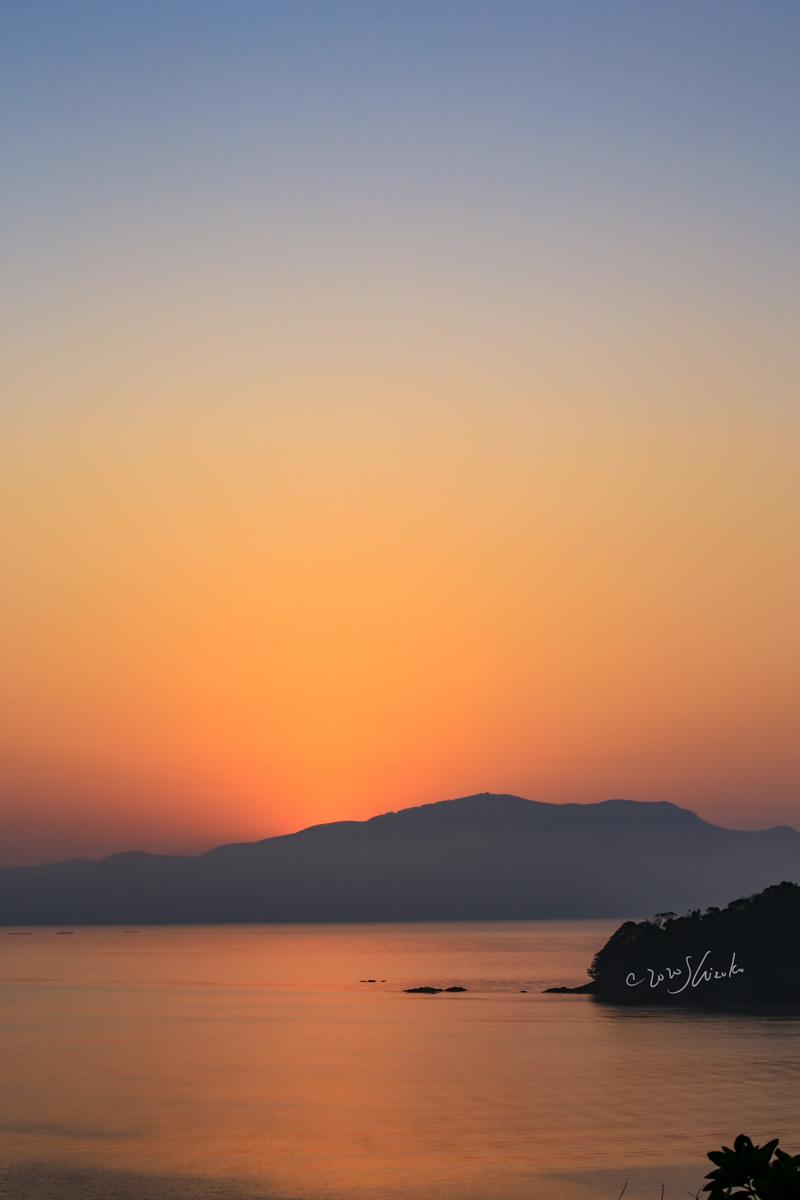 大村湾の日の出