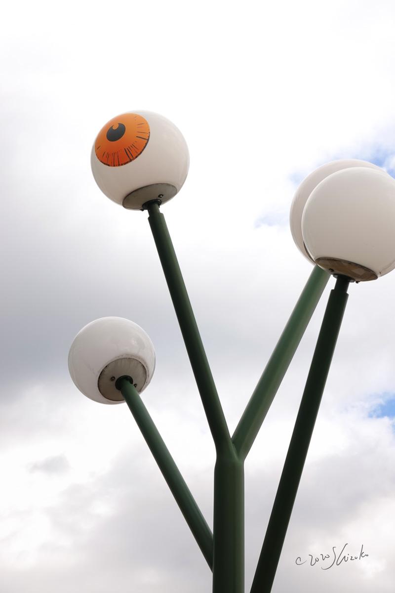 JR境港駅の街灯